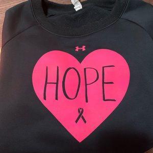 Breast cancer under armor sweatshirt